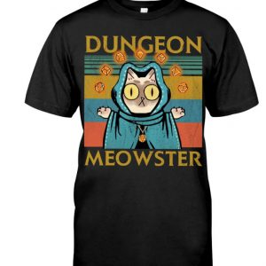 Game Dungeon Meowster vintage men shirt