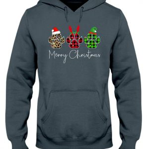 Merry christmas paw dog unisex hoodie