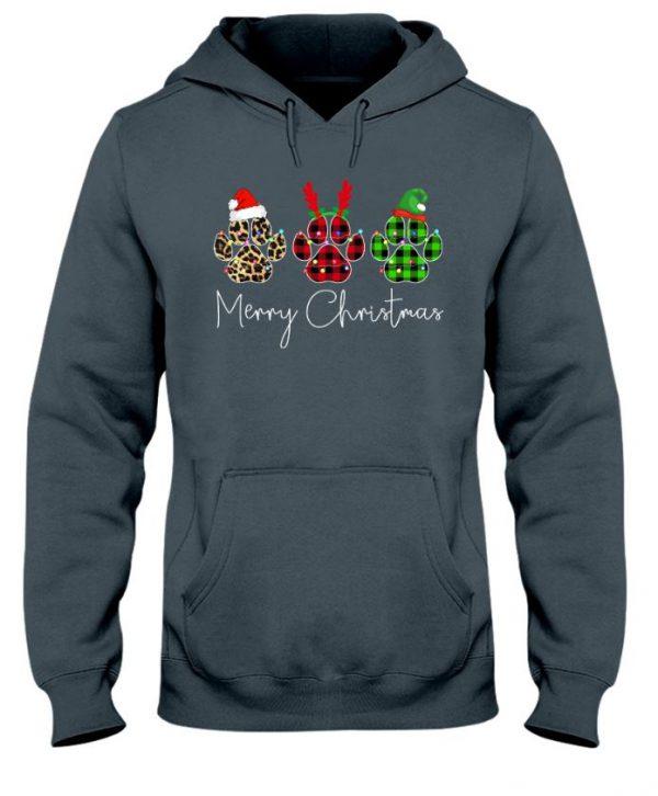 Merry christmas paw dog unisex hoodie