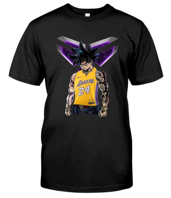 Songoku Ultra Instinct Kobe Bryant Lakers 24 unisex shirt