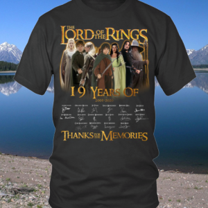 19 Years Of THE LORD OF THE RINGS 2001 2020 shirt
