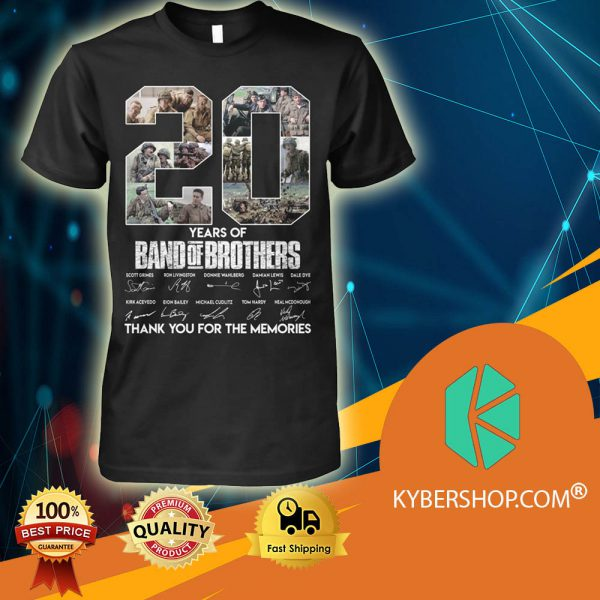 20 Years Of Band Of Brothers shirt