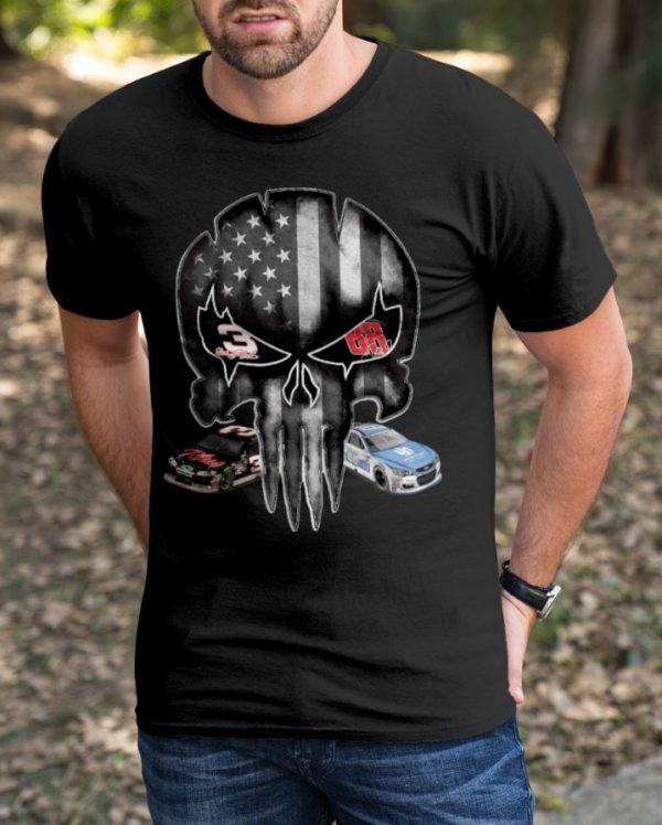 American Flag Skull Dale Earnhardt shirt