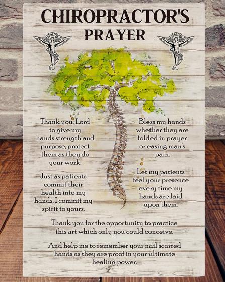 Chiropractor's Prayer poster