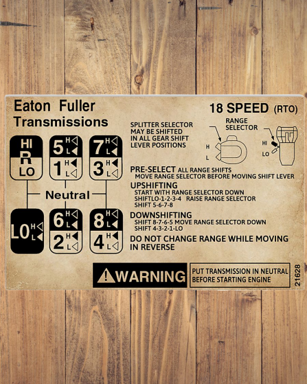 Fuller Transmissions Trucker poster