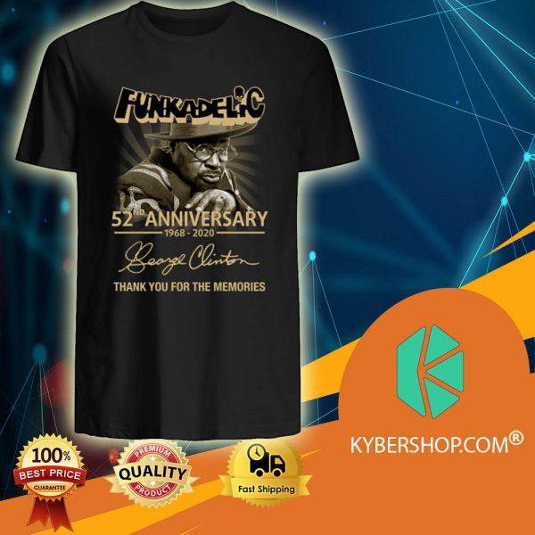Funkadelic 52ND Anniversary 1968 2020 shirt