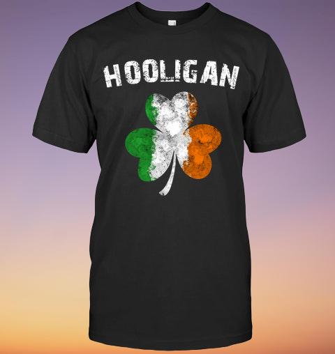 Irish Flag Shamrock Hooligan shirt