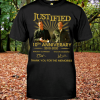 JustifiedthAnniversarysignatureshirt