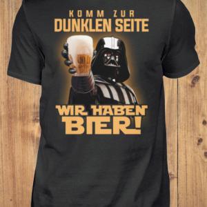 Kommen Sie zur dunklen Seite, wir haben Bier - Männer Hemd