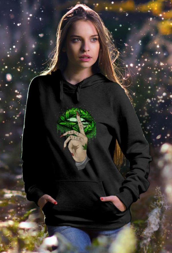 Lip Cannabis Not Today Bitch hoodie