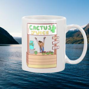 Master Sokka's Cactus Juice white mug