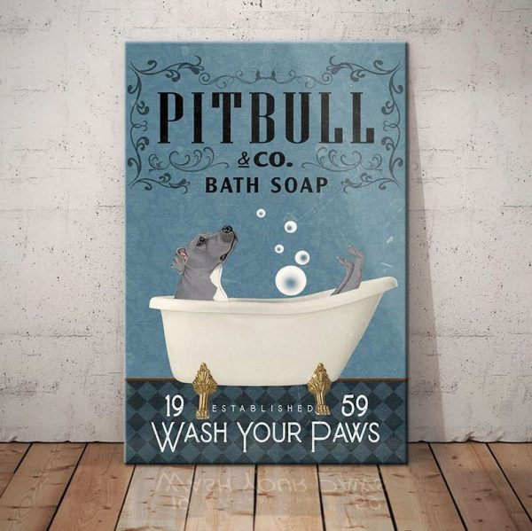 Pitbull Dog Bath Soap Company canvas