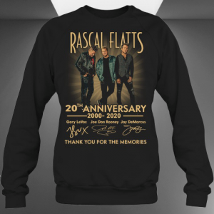 Rascal Flatts 20th Anniversary 2000 2020 Signature sweatshirt