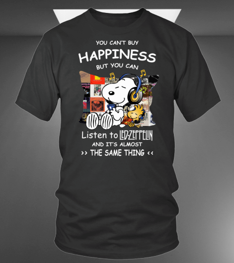 Snoopy and Woodstock You Can Listen To The Led-zeppelin shirt