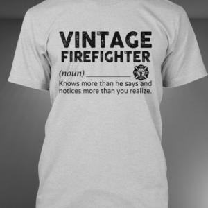 Vintage Firefighter deffination shirt