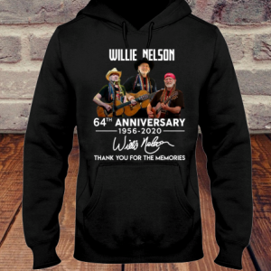 Willie Nelson 64th Anniversary 1956 2020 Signature hoodie