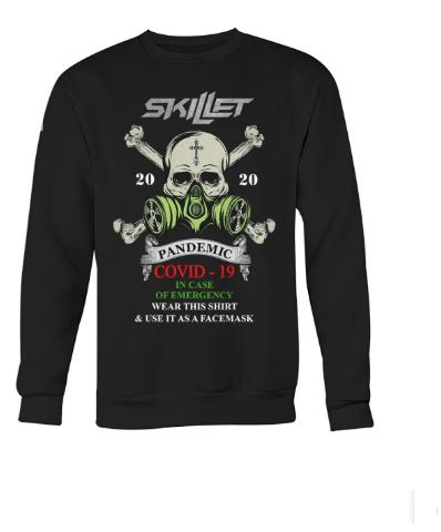 Skillet 2020 pandemic covid-19 in case of emergency sweatshirt