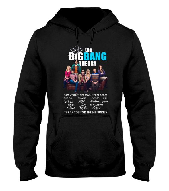 The Big Bang Theory 2007 2010 thank you for the memories hoodie