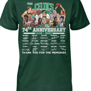 Boston Celtics 74th anniversary 1946-2020 shirt