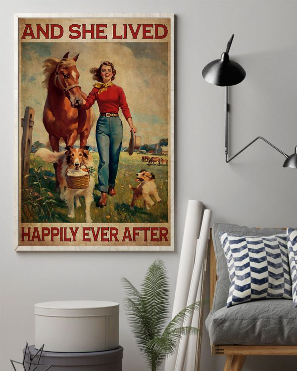 And she lived happily ever after poster