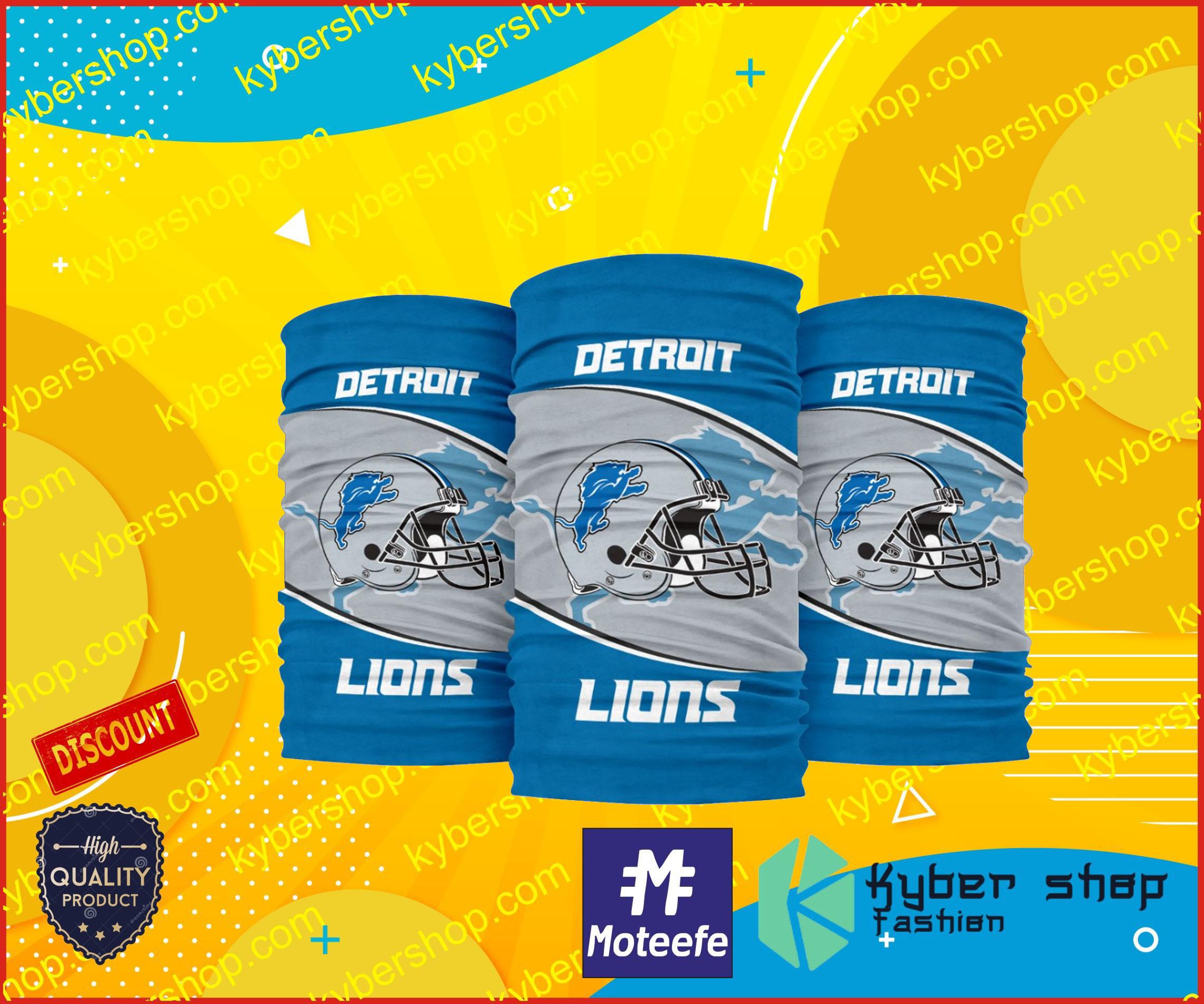 Detroit lions bandana