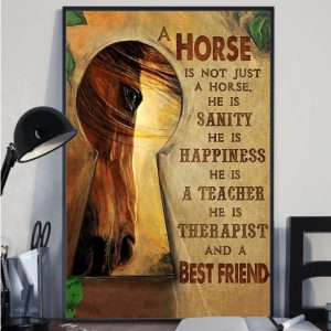 A horse is best friend poster
