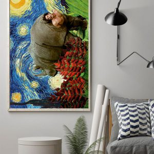 Ace Venture Rhino starry night poster