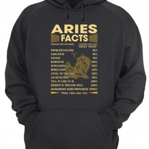 Aries facts hoodie shirt