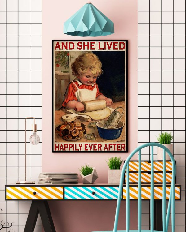 Baking she lived happily ever after poster