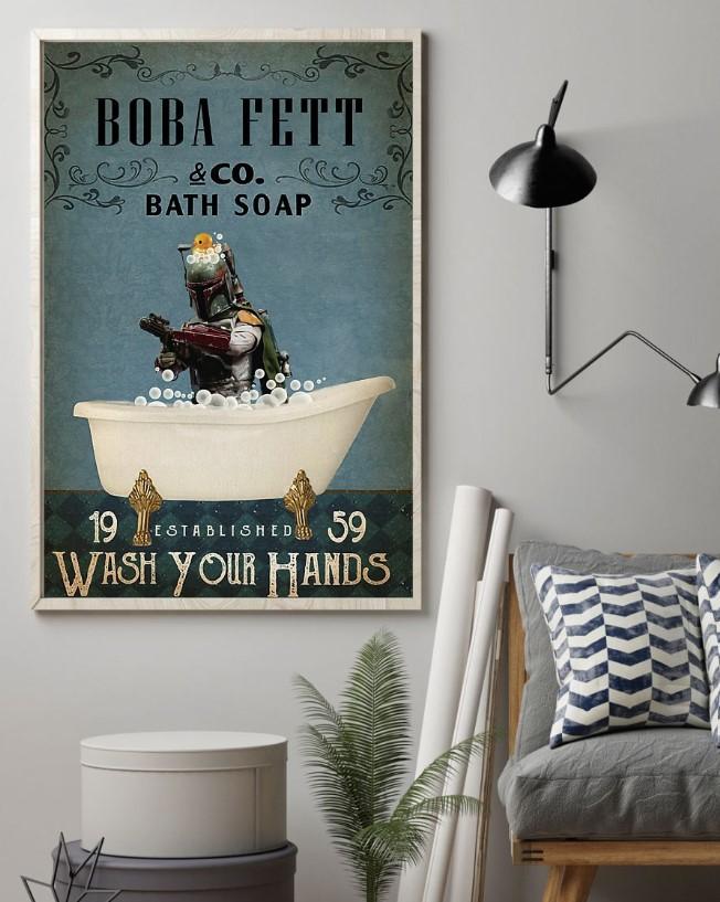 Boba fett bath soap  established  wash your hands poster
