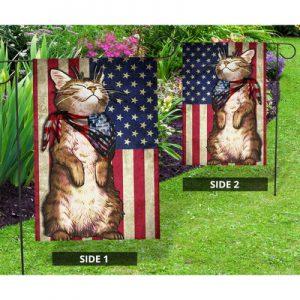 Cat US American flag