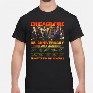 Chicago Fire 08th Anniversary 2012 2020 shirt