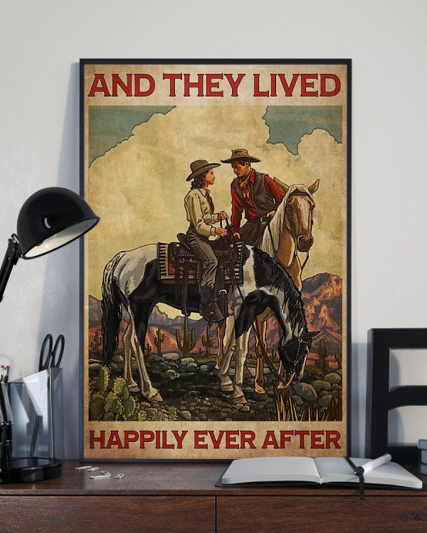Cowboys and they lived happily ever after poster