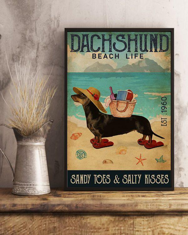 Dachshund Beach Life Sandy Toes and salty kisses