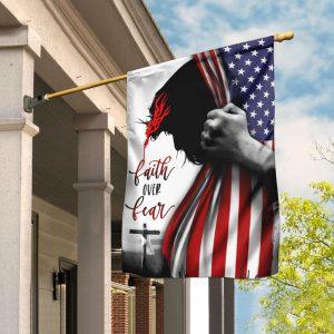 Faith over fear US flag
