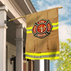 Fire honor rescue courage flag