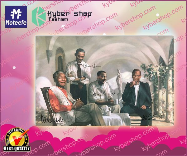Four black man poster