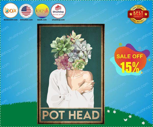 Garden Pot Head Poster