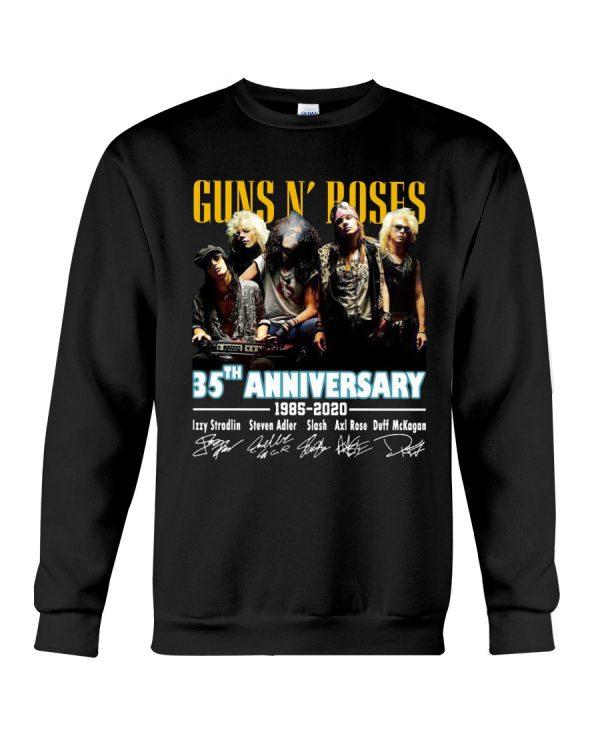 Gun n' roses 35th anniversary 1985 2020 shirt