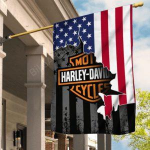 Harley Davidson American US Flag