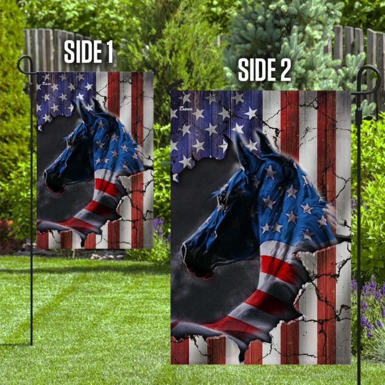 Horse US American flag