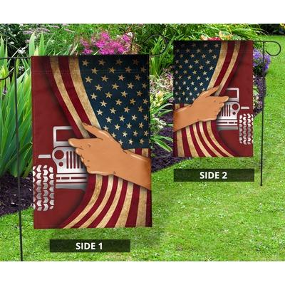 Jeep hand US American flag