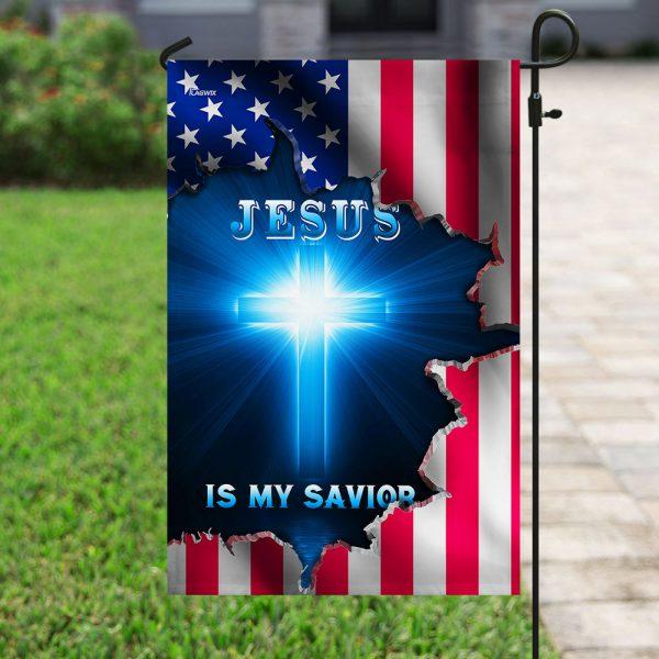 Jesus American is my saviob flag