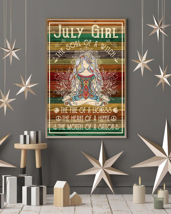 July Girl The Soul of A Witch The Fire of A Lioness Poster