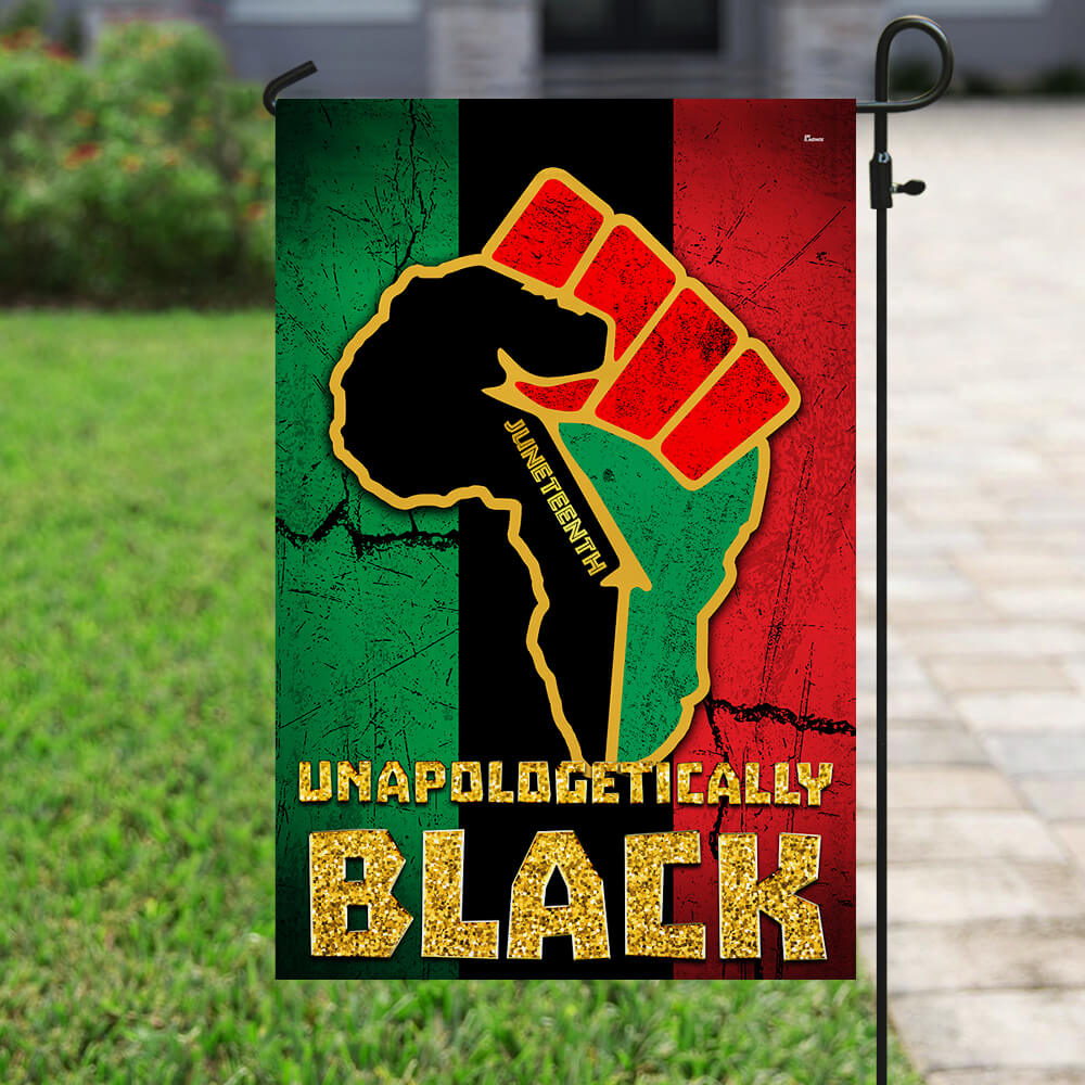 Juneteenth Unapologetically Black Flag