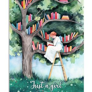 Just a girl who loves books poster