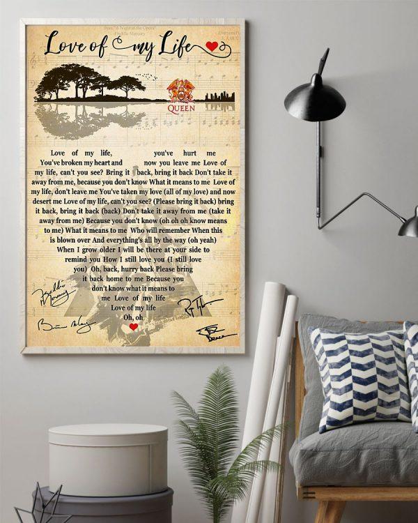 Love of my life lyrics Poster