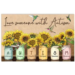 Love someone with autism poster