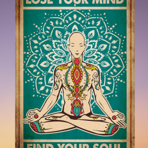 Meditation yoga man Lose your mind find your soul