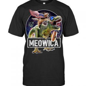 Meowica t rex shirt